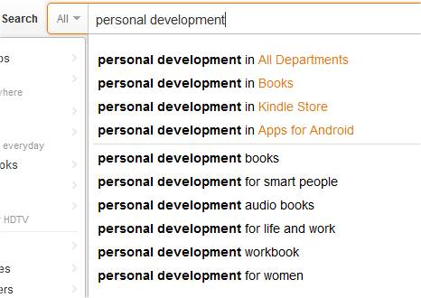 Amazon keyword suggestions