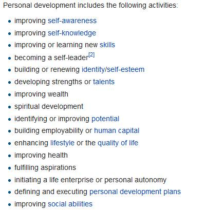 Wikipedia personal development