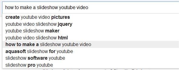 search suggestions